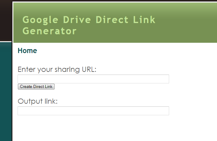 direct download from google drive link